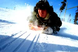 snow sledding - a fun and free winter activity